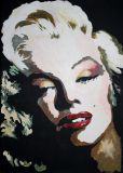 Monroe in the style of Andy Warhol