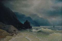 "Free copy of the painting by I. Aivazovsky ""sea Shore"""