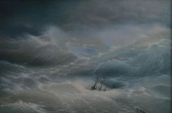 "Free copy of the painting of Ivan Aivazovsky ""the Wave"""