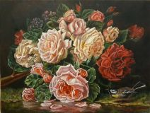 Rose, based on the paintings of Jean-Baptiste Robie