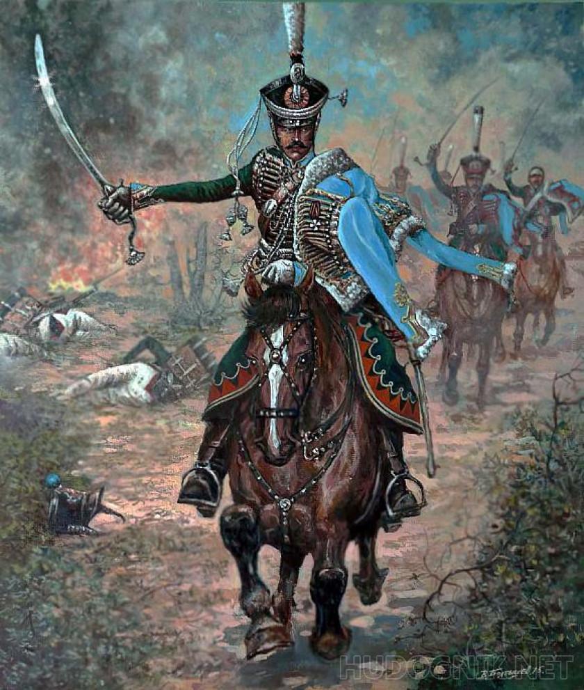 Картина Герой 1812 года командир Павлоградских гусар. Размеры ...