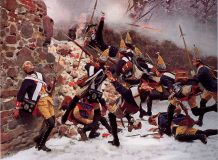 "Carl Rekhling ""15 Grenadiers of the regiment at the battle of Latane ""15 Grenadier regiment to attack the monastery"""""