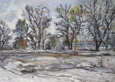 Winter landscape on the river Kuban №2