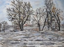 Winter landscape on the river Kuban ' No. 1