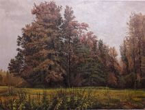 "From the painting by Shishkin I. I.""Autumn"""