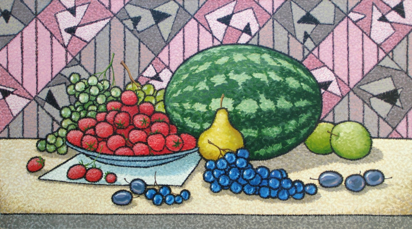 Still life with watermelon.