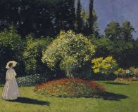 Lady in the garden Sainte-Adresse