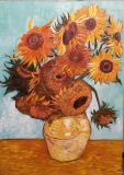 Copy of van Gogh Twelve sunflowers in a vase