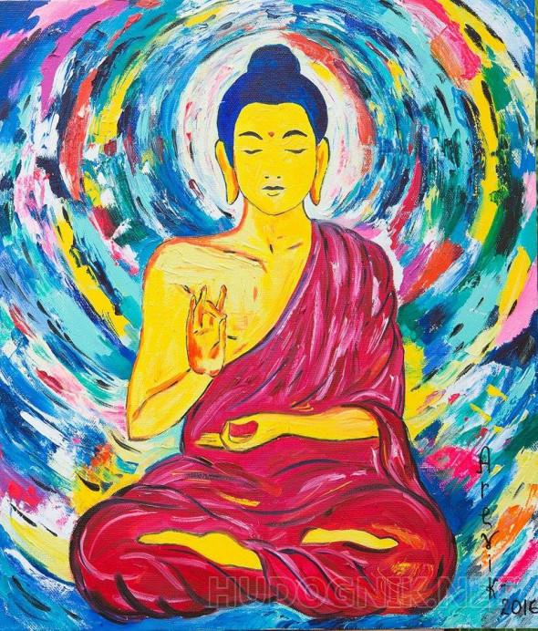 Будда открытка, настроение