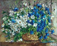 """Romashkovo-blue bouquet"""