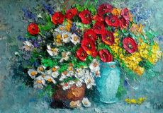 """Poppies with daisies"""