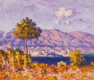 "Copy of the painting of Claude Monet ""stone pine at Antibes"". 1888"
