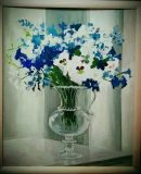 Flowers in a glass jug