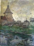 "The painting ""Corona tower.Solovki."" H. m 44х33"