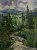 "The painting ""the Taiga expanses of"" H. m 39,5х29,5cm"