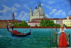 Venice, the girl and the gondolier.