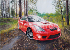 Toyota Celica drawing