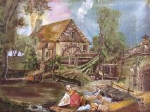 Dutch landscape At the old mill