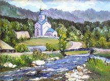 the Church across the river