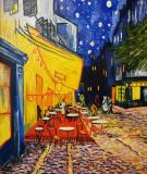Cafe terrace at night in Arles