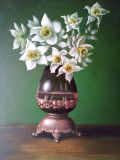Vintage daffodils in a vase (copy)