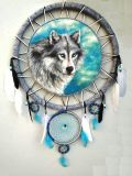 Dreamcatcher Wolf. Heavenly guardian