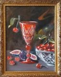 Still life with red glass