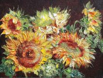 Sunflowers diptych (left side)