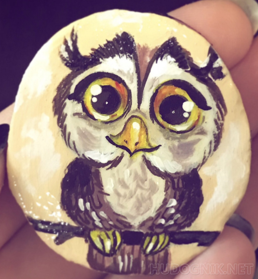 "ECO-brooch ""owl"""