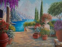 Promenade with flowers and sea view-2