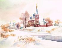 The temple on the frozen river