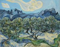 A copy of van Gogh. Olive trees in Tuscany