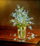 Forget-me-nots in a glass