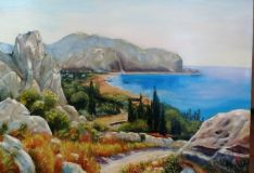 Copy'ts I. A. Summer landscape with coastal cliffs