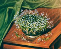 Still life with forget-me-nots