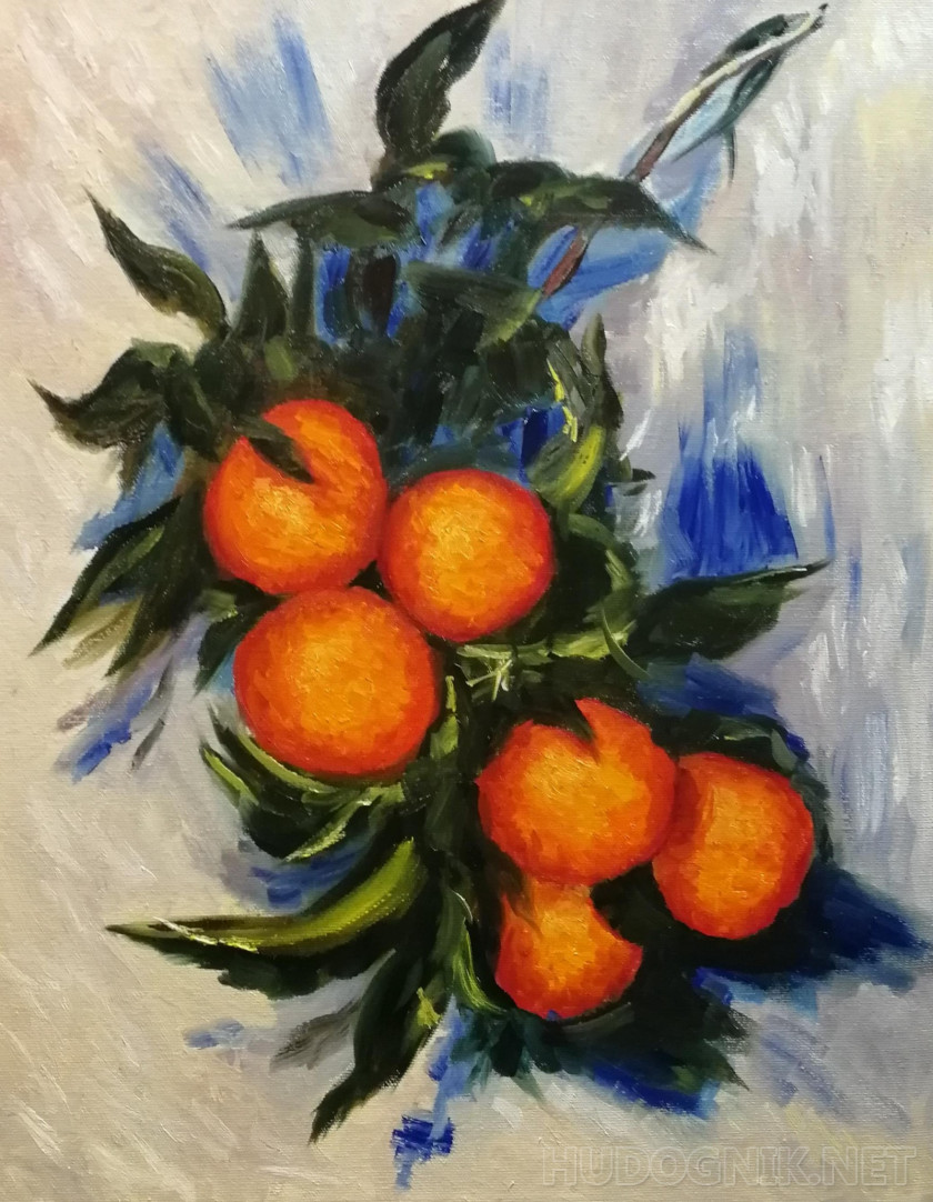 A copy of Monet's Branch of oranges