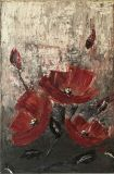 """Flowers poppies""oil Painting"