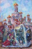 Sergius of Radonezh blessing Dmitry Donskoy in the Kulikov battle