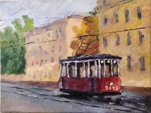 The autumn tram