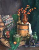 Still life with a barrel
