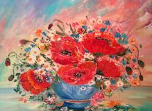 Picture of Poppies in a vase