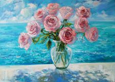 Roses and the sea