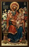The Icon Of The Blessed Virgin Mary The Unfading Blossom