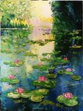 Lake with water lilies