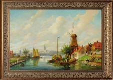 Dutch landscape with a windmill (copy)