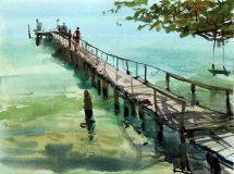 "Thailand. ""The old pier"""