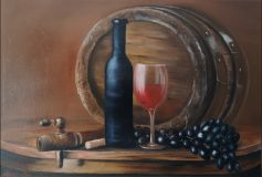 Still life with wine barrel