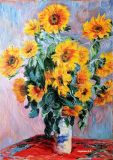 """Sunflowers"".A free copy of the work of Claude Monet."