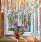 The window in the spring