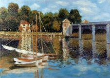 A copy of Claude Monet the Bridge at Argenteuil